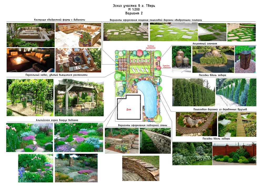 Ландшафтный дизайн: эскизное проектирование