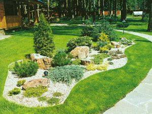 Ландшафтный дизайн вытянутого дачного участка - пример